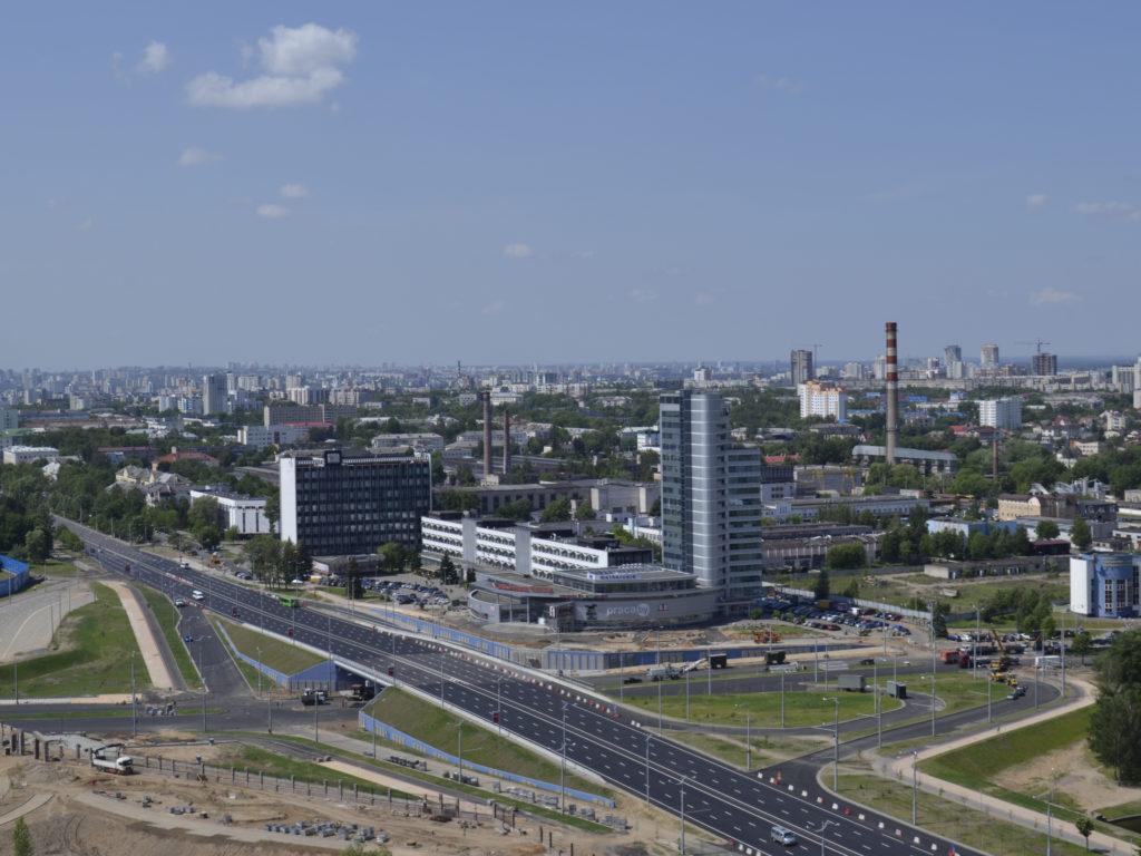 Вид с обзорной площадки в Минске