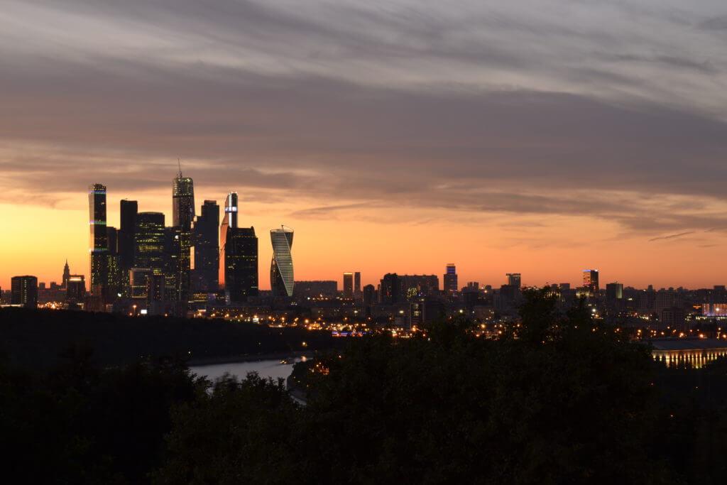 Закат в Москве.