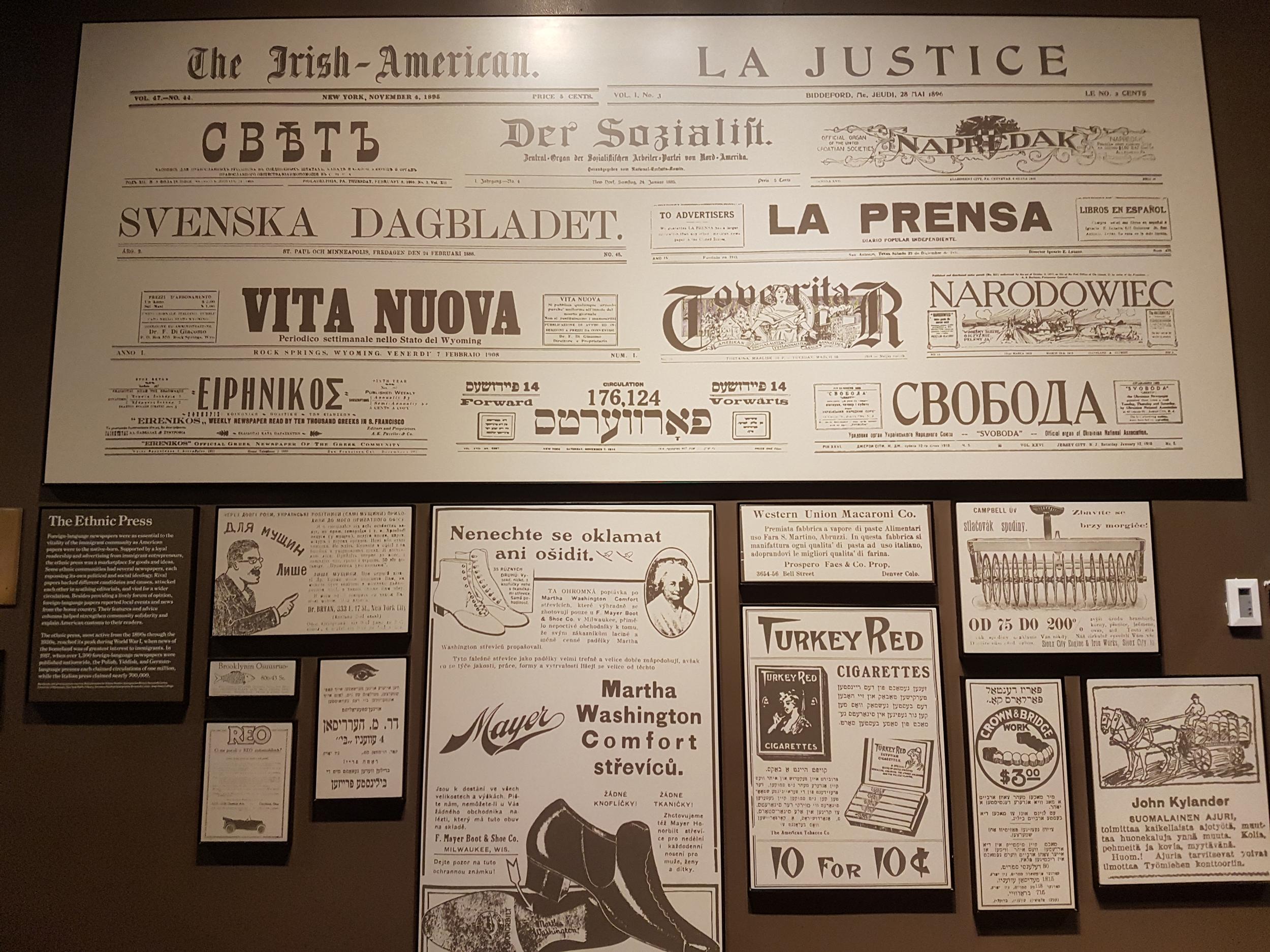 Газеты периода эмиграции