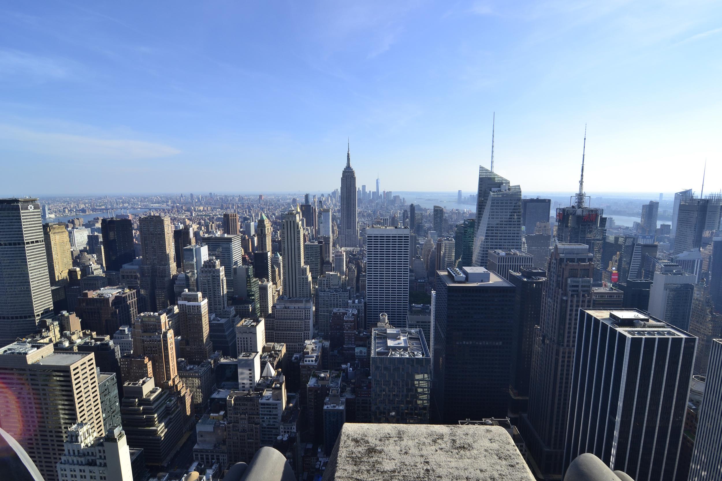 Вид со смотровой Top of the Rock