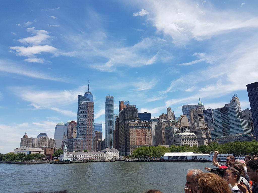 Вид с парома на Нью-Йорк