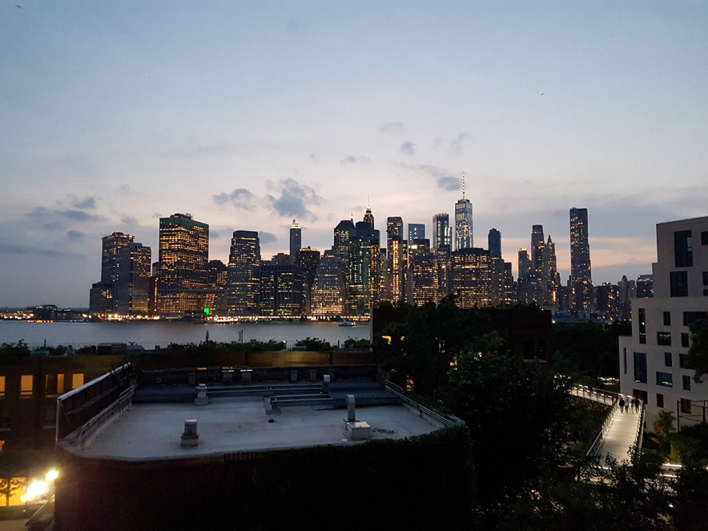 Вечерний Нью-Йорк особенно хорош