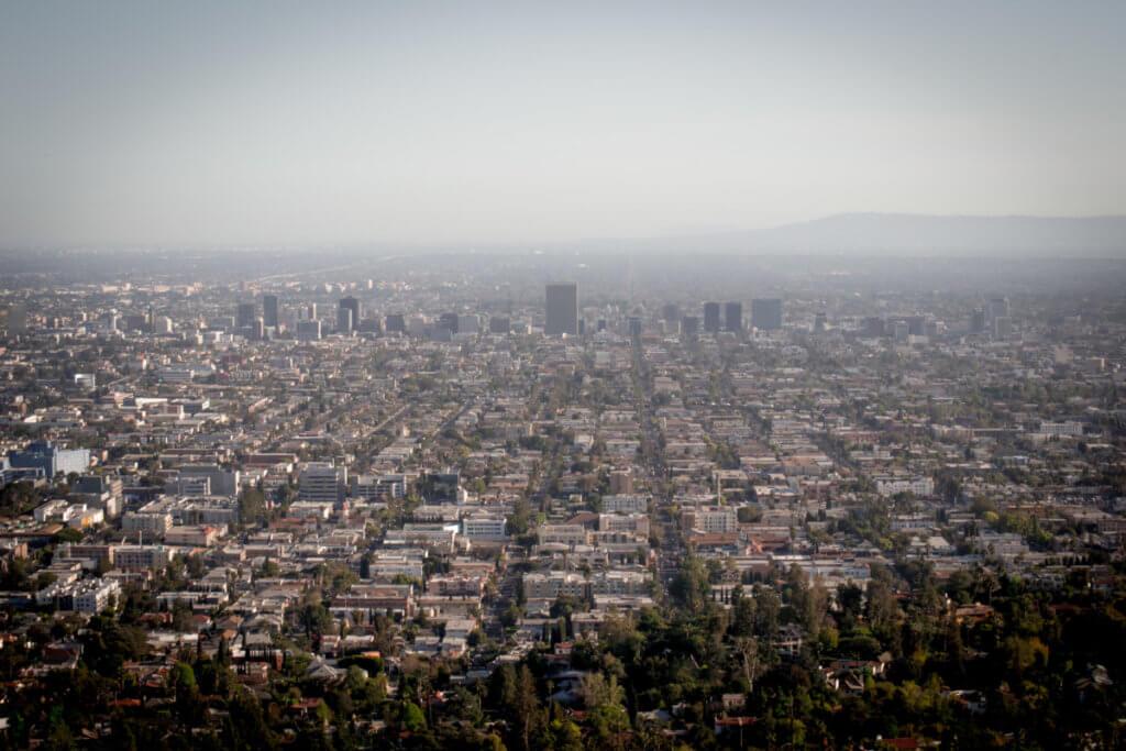 вид на Лос-Анджелес с Обсерватории Гриффит