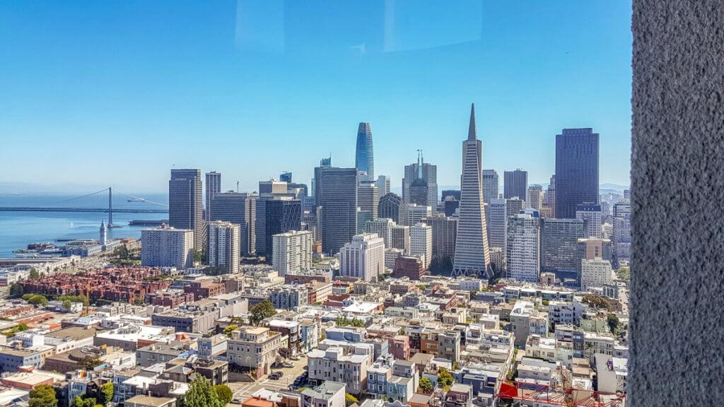 Вид на даунтаун Сан-Франциско